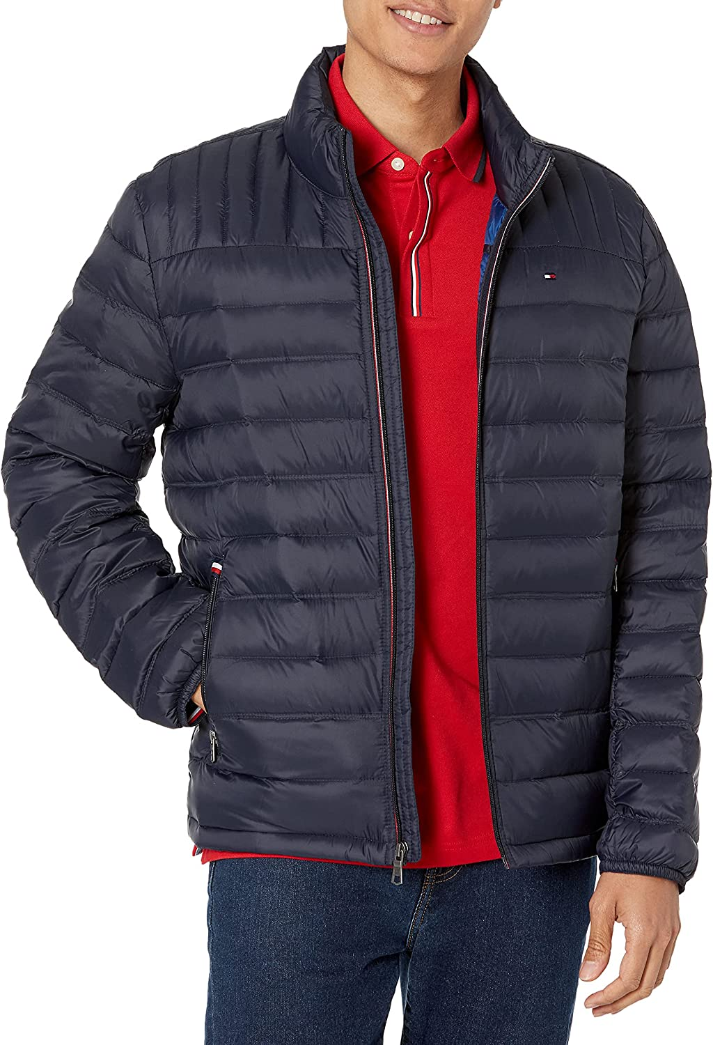 Credence Tommy Hilfiger Men's Manufacturer regenerated product Real Down Packable Jacket Puffer Insulated