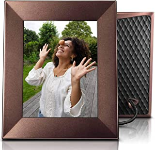 Nixplay Iris 8 Inch WiFi Digital Photo Frame Bronze - Share Moments Instantly via App or E-Mail