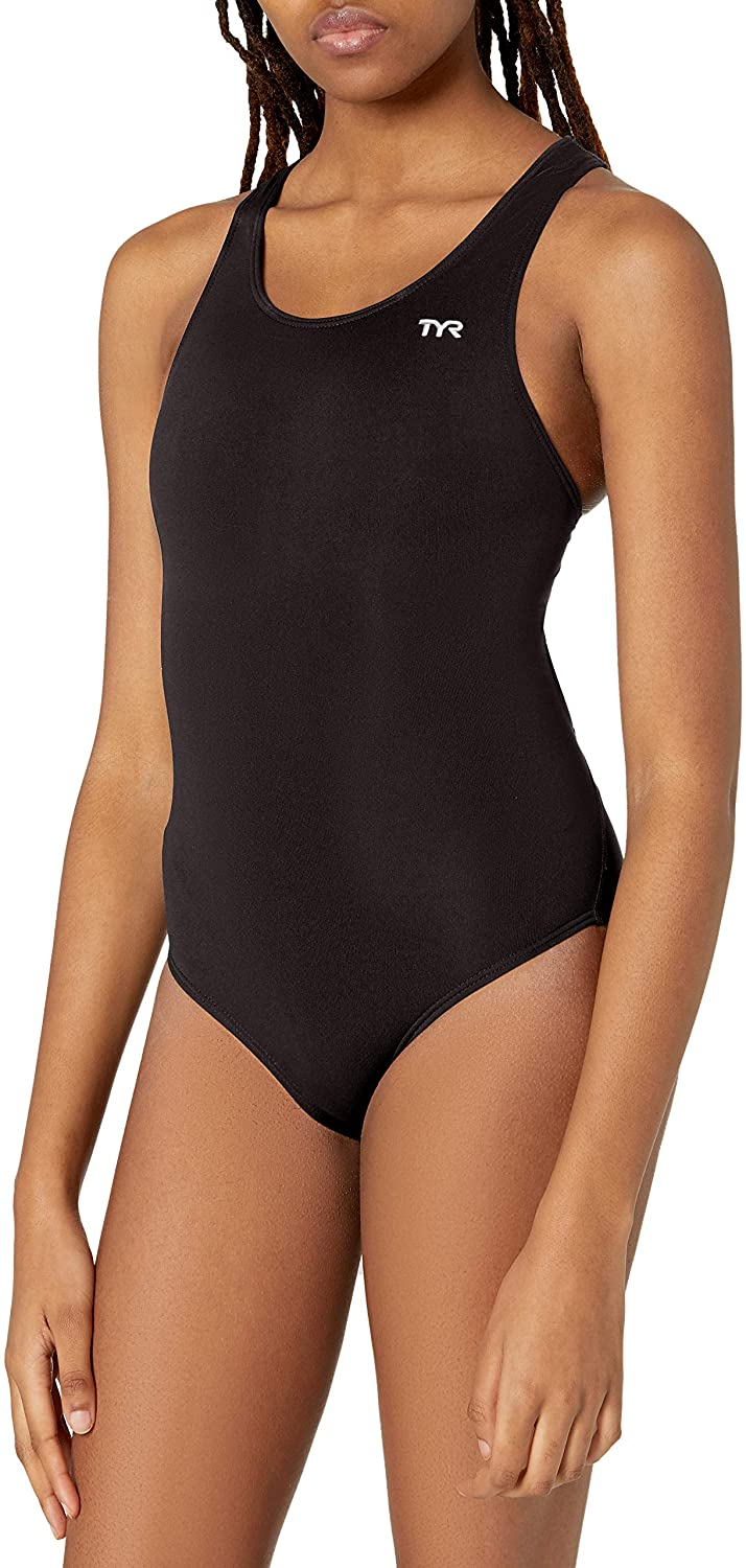 TYR New Shipping Free Shipping safety SPORT Women's Durafast Maxfit Solid Elite Swimsuit