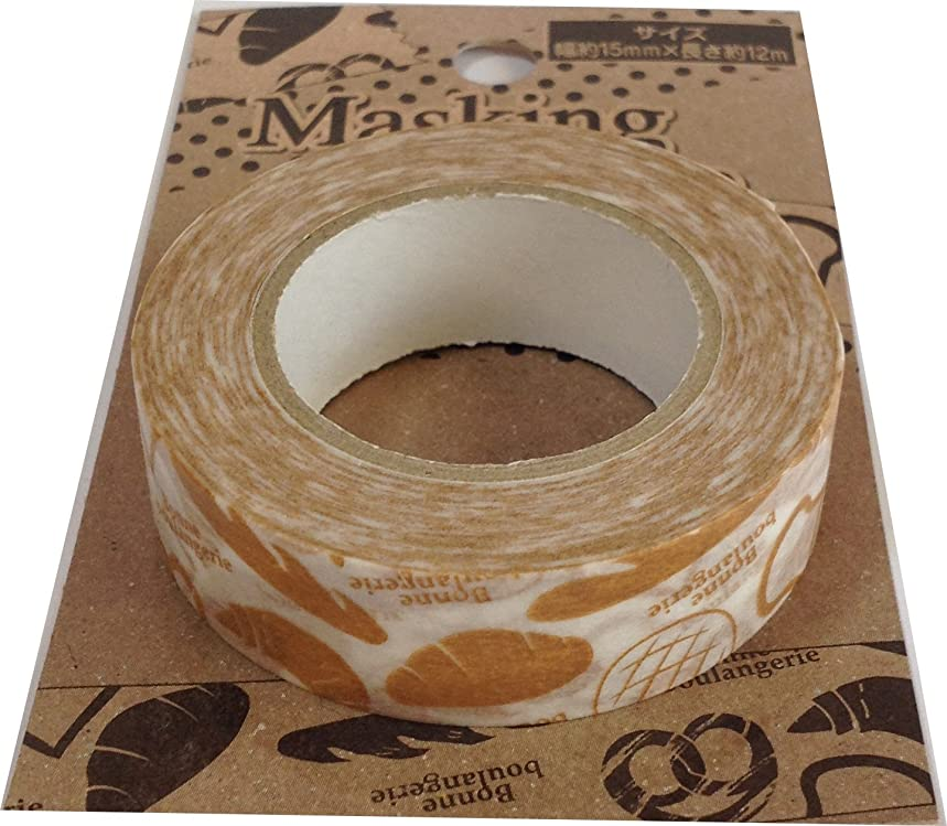 Washi Japanese Paper Masking Tape 12m Sticker Decoration Arts, Crafts & Sewing Stationery Japan (Bread)