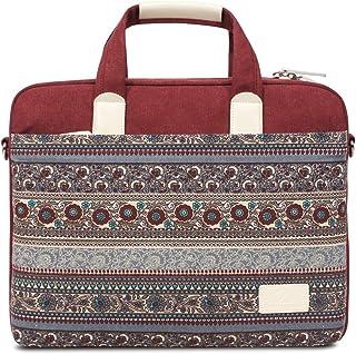 Bolso para portátil y Tableta de Lona de 13 Pulgadas,Funda de baúl Messenger para Laptop,maletín para 13-13,3 Pulgadas,MacBook Pro, MacBook Air,computadora portátil -(Rojo)