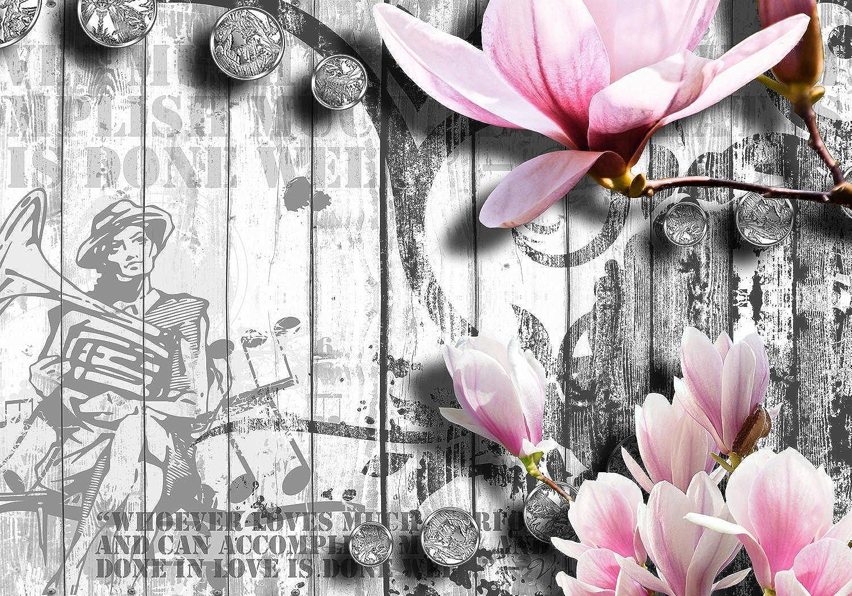 Wandmotiv24 Fototapete Musik Style Blüten Rosa M0547 XXL 400 x x x 280 cm - 8 Teile Wandbild - Motivtapete B01I3KJ2DO 8fcbcd