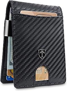 Money Clip Wallet HOUSTON Mens Wallet RFID Blocking Wallet | Minimalist Mini Slim Wallets Bifold for Men with Gift Box