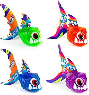 Boley Catch The Fish Bathtub Toys - 4 Pack Small Light Up Sea Animal Kids Bath Toys for Ages 6 and Up