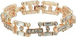 Steve Madden Square Link Bedazzled Bracelet