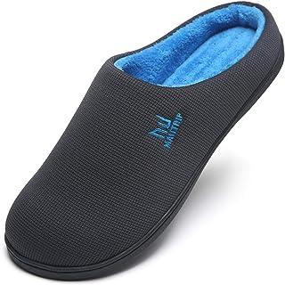 MAIITRIP Pantoufles en mousse à mémoire de forme pour hommes, chaussures de maison antidérapantes (Taille: EU 40-EU 49)