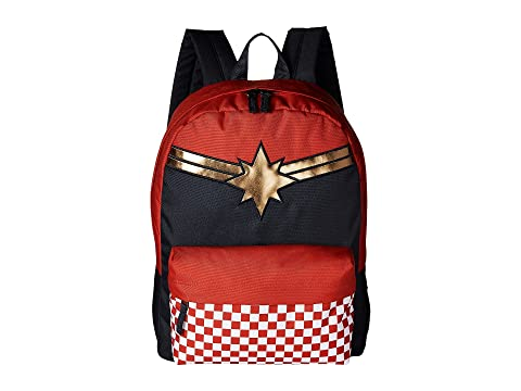 Vans Captain Marvel Realm Backpack Racing Red Latest Collections Online Manchester Discount 2018 New DC4Pb9h
