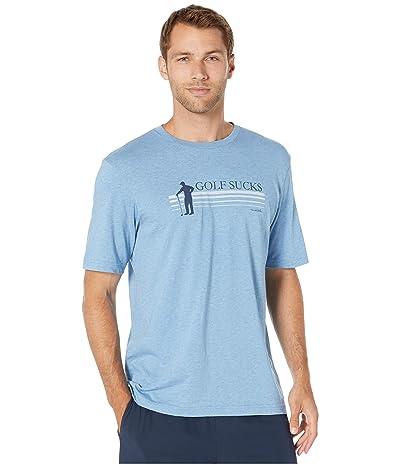 TravisMathew Jason T-Shirt (Heather Blue) Men