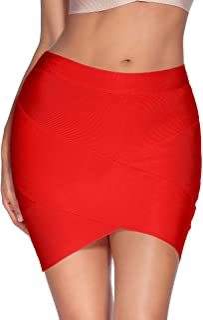 meilun Women's Rayon Bandage Bodycon Mini Skirt