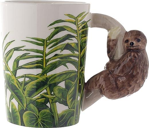 Faultier Tasse mit 3D Keramik