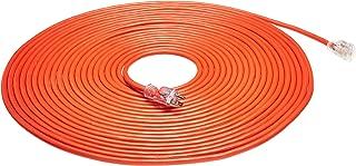 AmazonBasics 12/3 Heavy Duty SJTW Lighted Extension Cord, Orange, 75 Foot