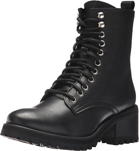 Steve Madden Wohommes Geneva Combat démarrage, noir Leather, Leather, 5.5 M US  bonne réputation