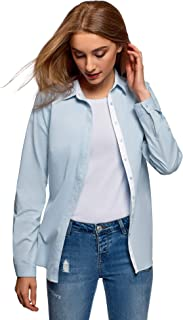 oodji Ultra Women's Cotton Shirt with Chest Pocket