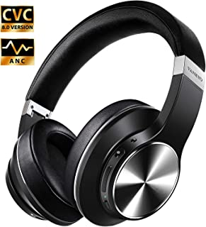 $59 » Hybrid Active Noise Cancelling Headphones, VANKYO C751 Over Ear Wireless Bluetooth Headphone with CVC 8.0 Mic, Deep Bass, Hi-Fi Sound, Comfortable Protein Earpads, 30H Playtime for Travel/Work