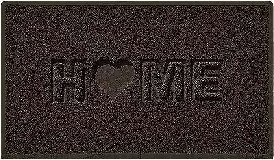 Nicoman Home + Heart MAT, Vinyl Loopers, Brown, Medium (75x44cm)