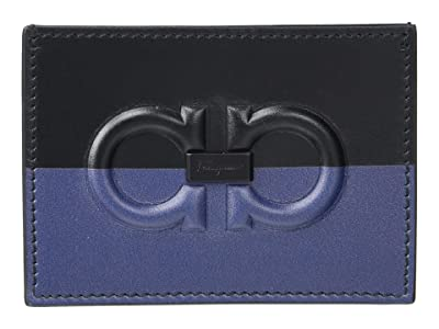 Salvatore Ferragamo Firenze Logo Card Holder 66A469 (Black) Handbags