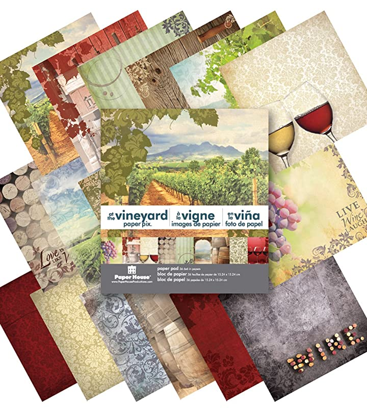 Paper House Productions PP-0622E Paper Pad, 6-Inch by 6-Inch, At The Vineyard