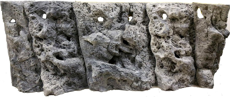 Aqua Maniac Limestone 3D Aquarium Background Set, Polyresin (Not Foam), 815 cm Thick, Unique Aqua Decor, Can Fit Aquarium Size 50X30cm (117x45cm)