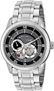 Bulova - Reloj automático para Hombre 96A119 BVA de Acero Inoxidable con Pulsera de eslabones