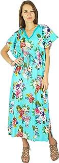 Phagun Bohemian Cotton Caftan Dress Butterfly Printed Kaftan Maxi Nightwear
