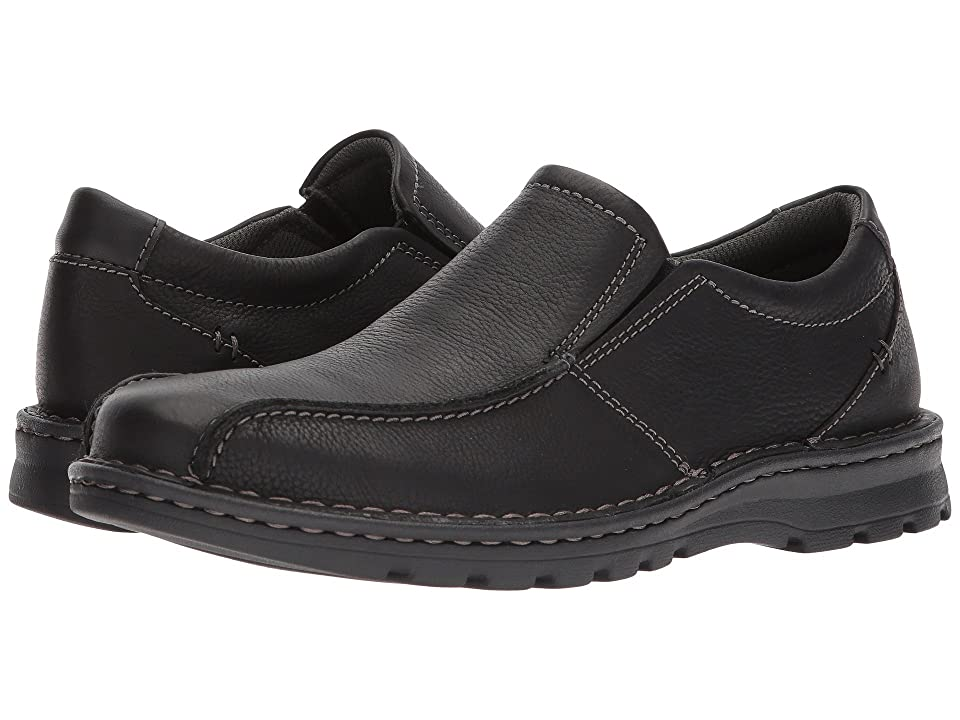 Clarks Vanek Step (Black Oily Leather) Men