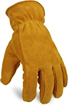 OZERO Work Gloves Winter Insulated Snow Cold Proof Leather Glove Thick Thermal Imitation..