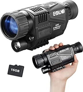ESSLNB Night Vision Monocular 5X40 Night Vision Infrared IR Camera HD Digital Vision Scope Recording Image and Video Playb...