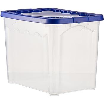 Duplast 7612 Caja y Cesta de almacenaje - Cajas y cestas de almacenaje (Storage Box, Azul, Transparente, Monótono, Rectangular): Amazon.es: Hogar
