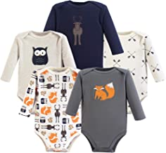 Hudson Baby Unisex Cotton Long-Sleeve Bodysuits