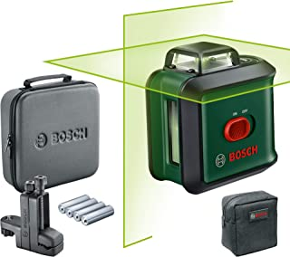 Bosch cross line laser UniversalLevel 360 Flexi Set (horizontal 360° laser line + vertical laser line, green laser, 4x AA ...