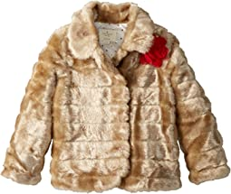 Kate Spade New York Kids - Faux Mink Coat (Little Kids/Big Kids)