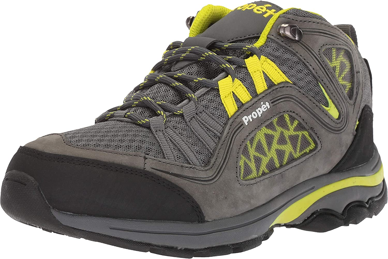 Propet Women's Peak Hiking Boot Dark Grey Lime 10H Medium Medium US