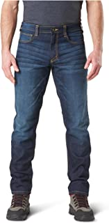 5.11 Tactical Defender-Flex Straight Jeans, Mechanical Stretch Fabric, Classic Pockets, Style 74477 Long Classic Pants