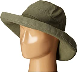 Cotton Big Brim Sun Hat with Inner Drawstring