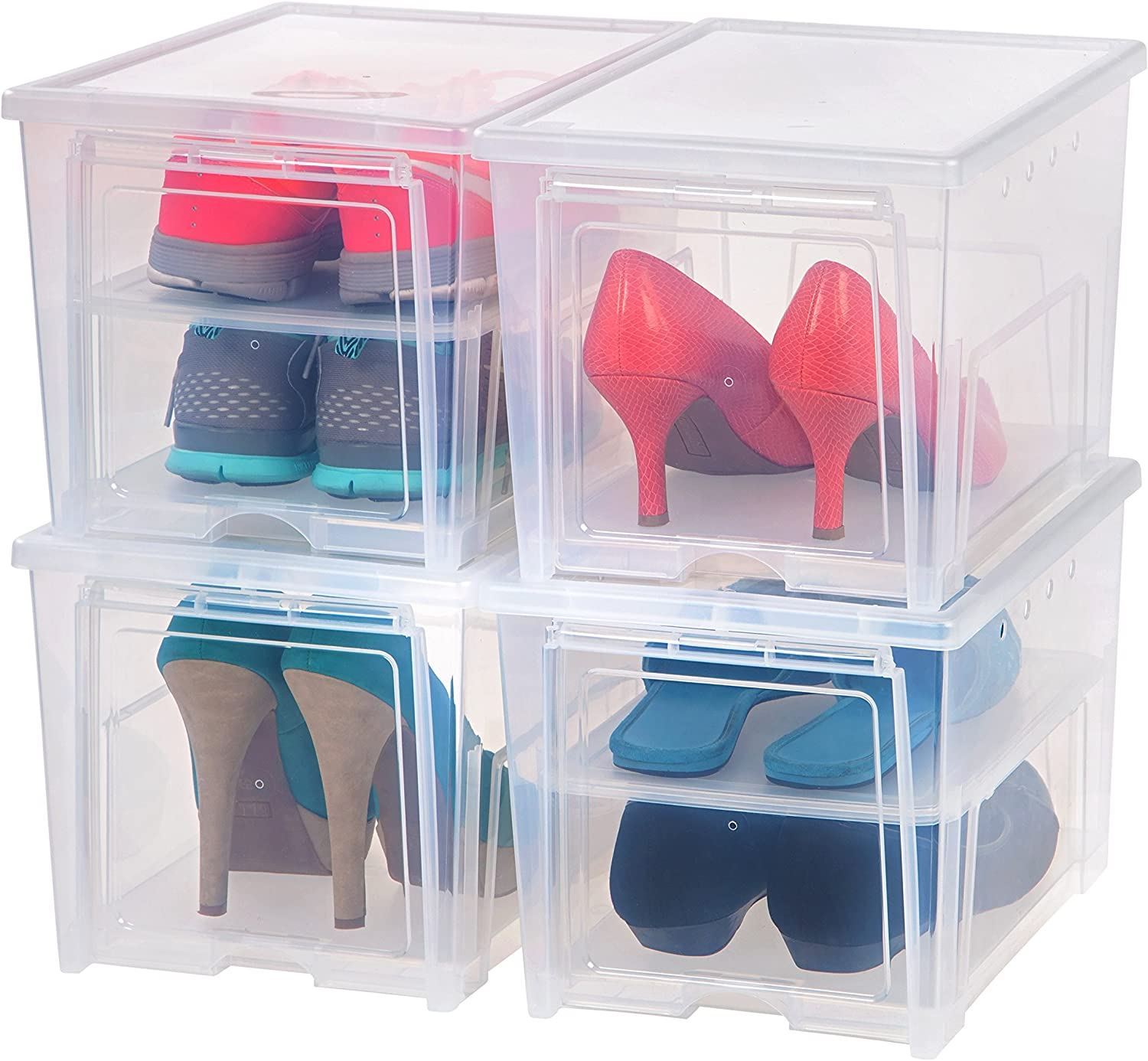 IRIS USA EA-HB Shoe storage box Super beauty product restock quality top Clear Tall Count Max 69% OFF 4