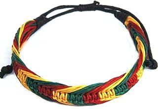Rasta Bracelet Cotton Handmade Reggae Jewelry Boho (S4678)