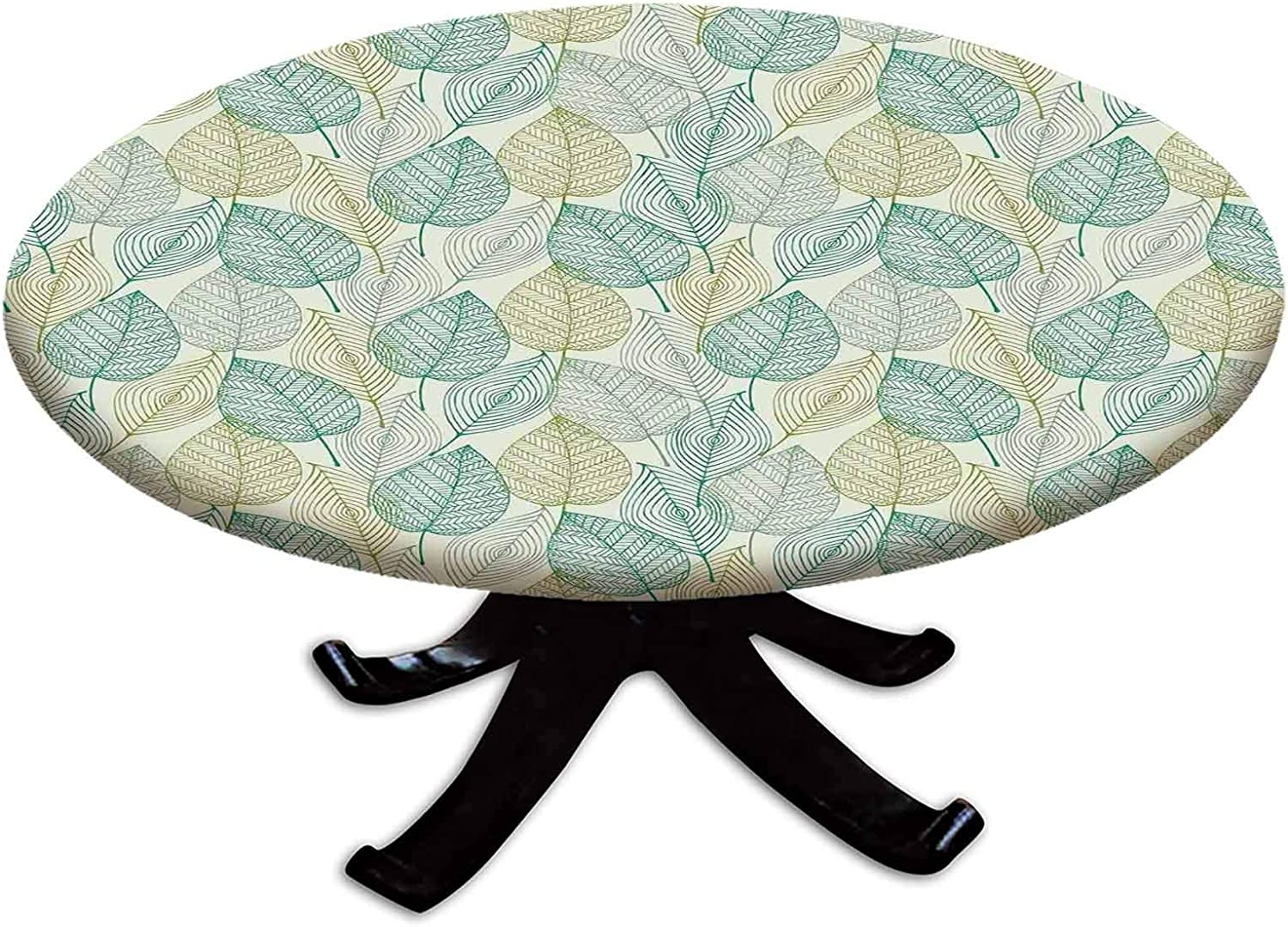Elastic Edged Polyester Fitted Table of 在庫限り セール特別価格 Lea Cover Modern Pattern