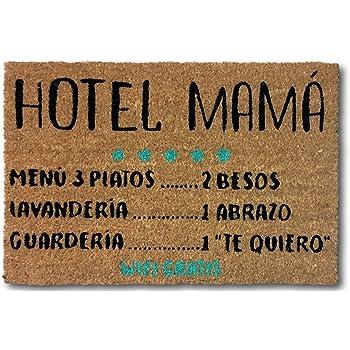 koko doormats Felpudo Entrada para casa y Jardin, felpudos Entrada casa Originales y Divertidos, 40x60x1.5 cm, Coco con Base Antideslizante de PVC (Hotel Mama): Amazon.es: Hogar