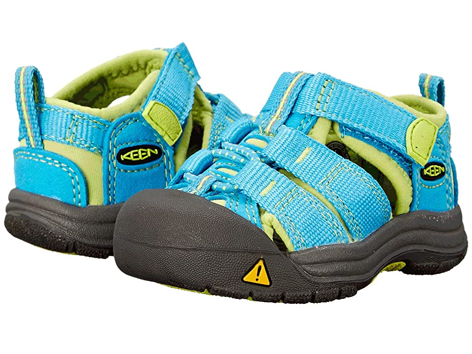 Keen Kids Newport H2 (Toddler) (Hawaiian Blue/Green Glow (Prior Season)) Kids Shoes