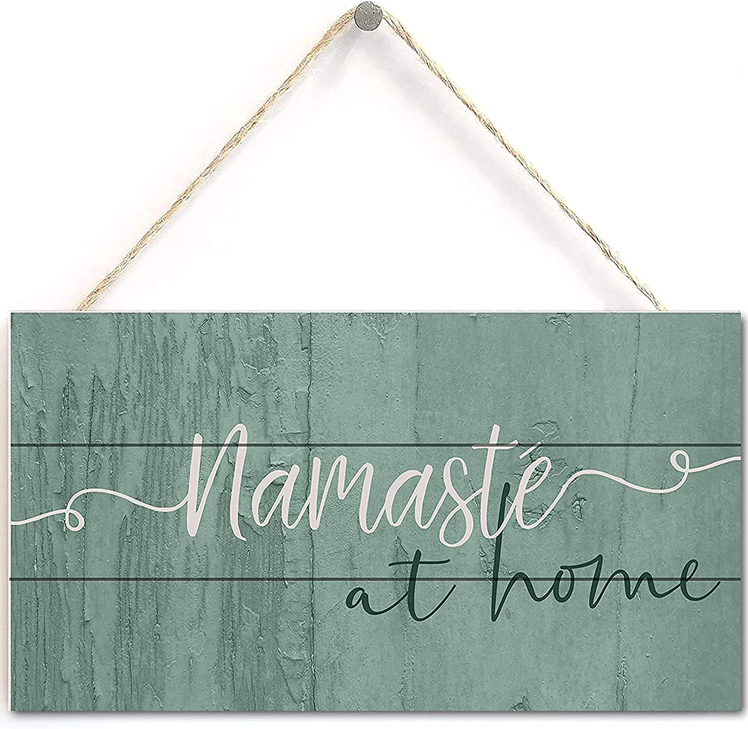 TOMATO FANQIE Wood Products Namaste at Home Wooden Plank Sign 5x10 inches (US-G029)