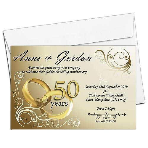 Wedding Anniversary Party Invites Amazoncouk