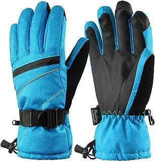 Fazitrip Women Ski Gloves Waterproof Windproof Sensitive Touchscreen Gloves