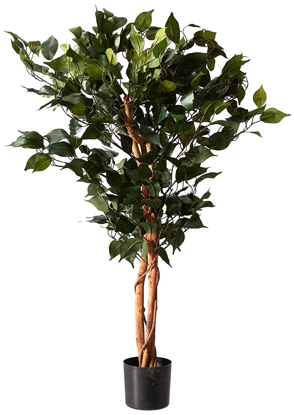 Nearly Natural 5298 Ficus Silk Tree, 3-Feet, Green