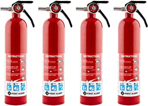 First Alert HOME1 Rechargeable Home Fire Extinguisher 4-Pack, Red | UL Rated 1-A:10-B:C | All-Metal Fire Extinguisher with...