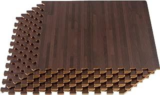 FOREST FLOOR 24 x 24 in x 5/8 in Thick Printed Foam Tiles,  Premium Wood Grain Interlocking Foam Floor Mats,  Anti-Fatigue Flooring,  36 Sq Ft