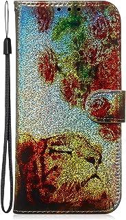 Fatcatparadise Funda para Samsung Galaxy A10 / M10 [con Protector Pantalla], Glitter Bling 3D PU Cuero Carcasa Cartera Bil...