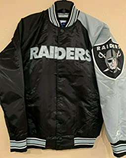 raiders starter jacket satin