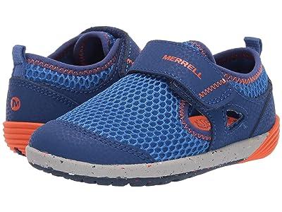 Merrell Kids Bare Steps H20 (Toddler) (Blue/Orange) Boys Shoes