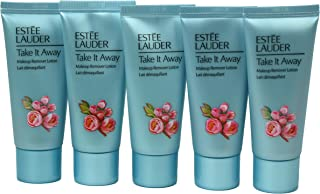 Pack of 5 x Estee Lauder Take It Away Makeup Remover Lotion 1 oz each, Travel Size Unboxed