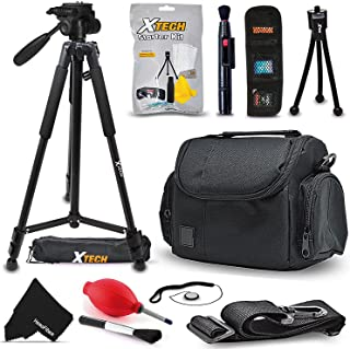 "Premium Well Padded Camera CASE / BAG and Full Size 60"" inch TRIPOD Accessories KIT for FUJIFILM Finepix XP80 XP70 X100T X100S X100 XT10 XT1 XA2 XA1 XQ2 XQ1 XE2 XE1 XPro1 X30 X20 X10 XM1 XF1 X-S1 Fujifilm FINEPIX S9900W, S9800, S9400W, S9200, S8600, S8500, S8400W, S8300, S8200, S6900, S6800, S6700, S4800, S4700, S4600, S4500, S4400, S4300, S2950 Digital Cameras"